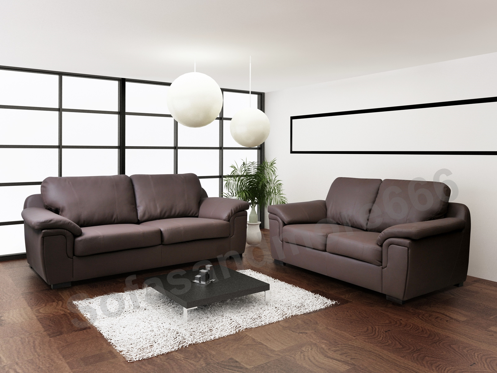 Two Seater Sofa Living Room Amy 3 2 Seater Sofa Set Brown Black Real Leather Pocket Sprung Seats