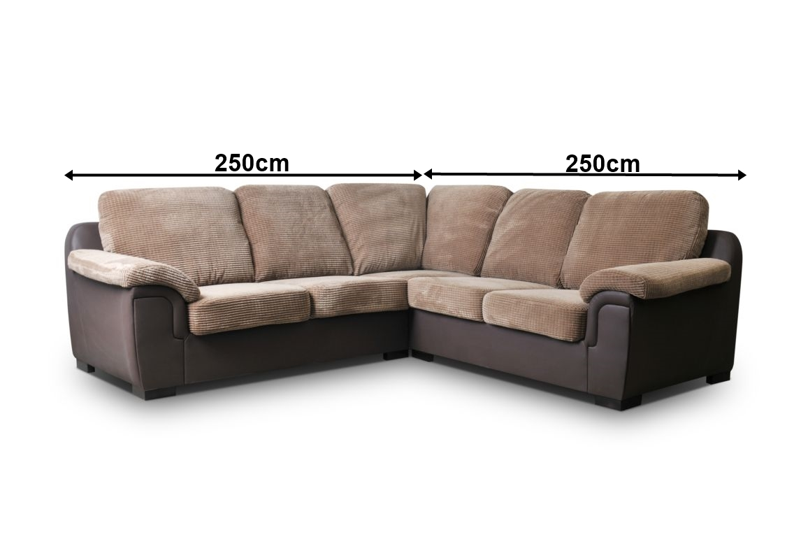 fabric corner sofa brown grey amy jumbo cord brand new. Black Bedroom Furniture Sets. Home Design Ideas